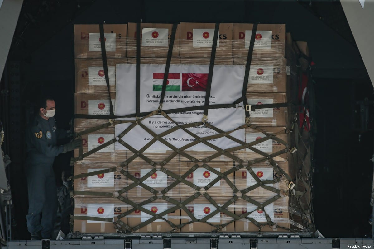 Medical equipments, which Turkey prepared to send to Somalia on June 04, 2020 [Metin Aktaş/Anadolu Agency]