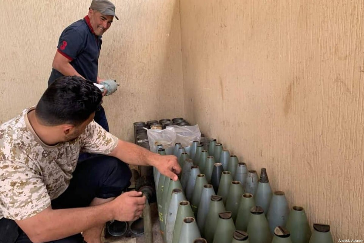 Libyan Army captures ammunition from warlord Khalifa Haftar's militias in Tripoli, Libya on 4 June 2020. [Volcano of Rage Operation / Handout - Anadolu Agency]