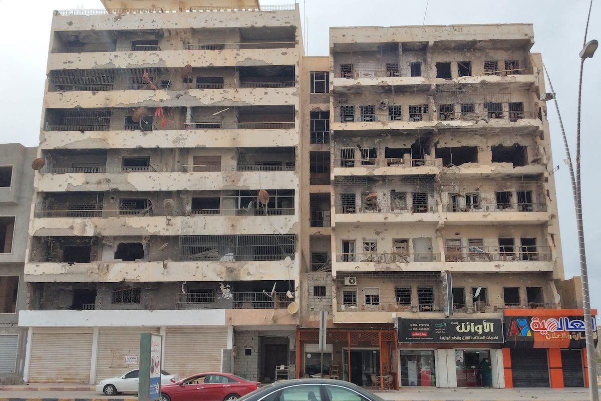 A view from coastal and commercial city of Libya, Misrata on 12 June 2020. [Hamza Al Ahmar - Anadolu Agency]
