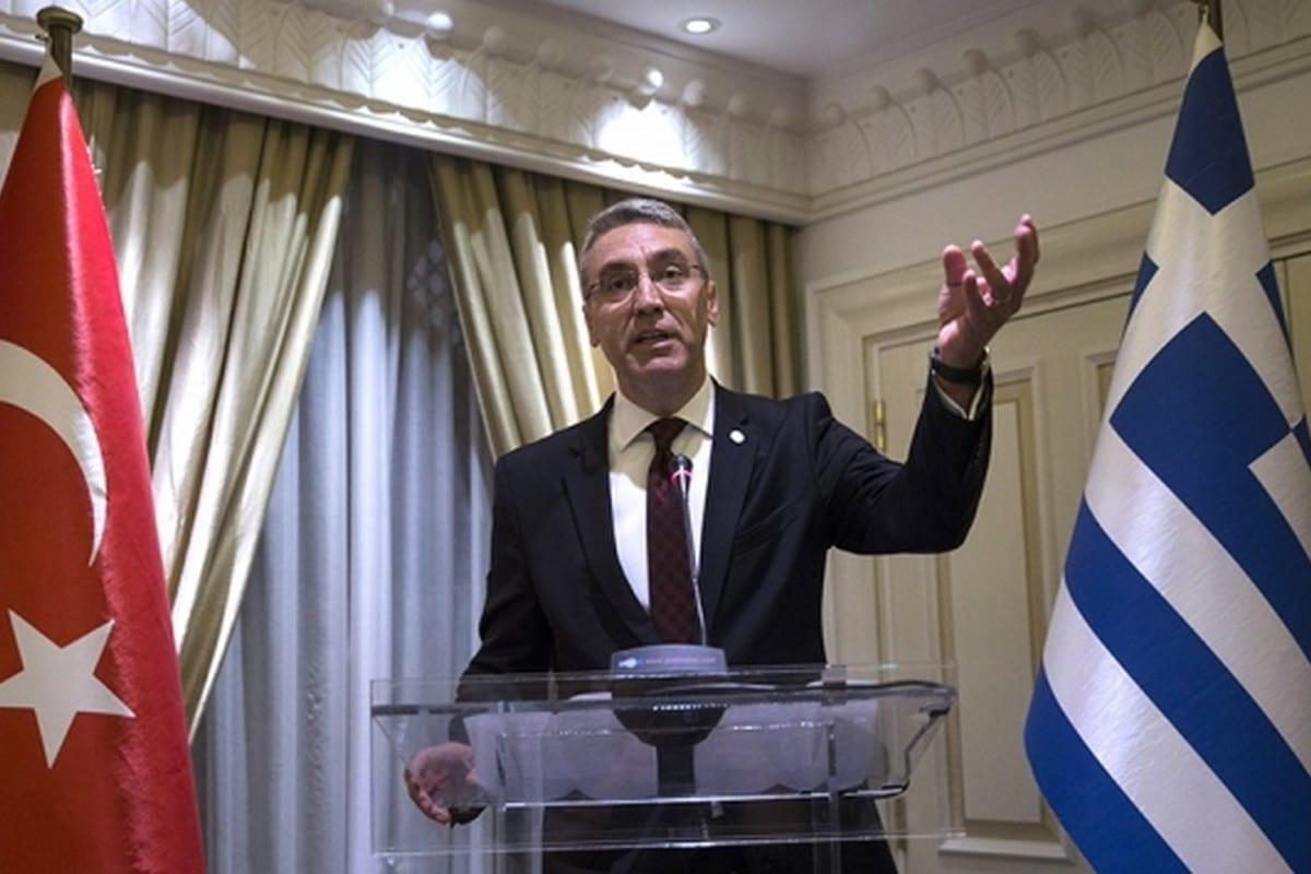 The Turkish Ambassador to Greece, Burak Ozugergin, 2 June 2020 [Osmanlıca Okuma Dersleri/Facebook]