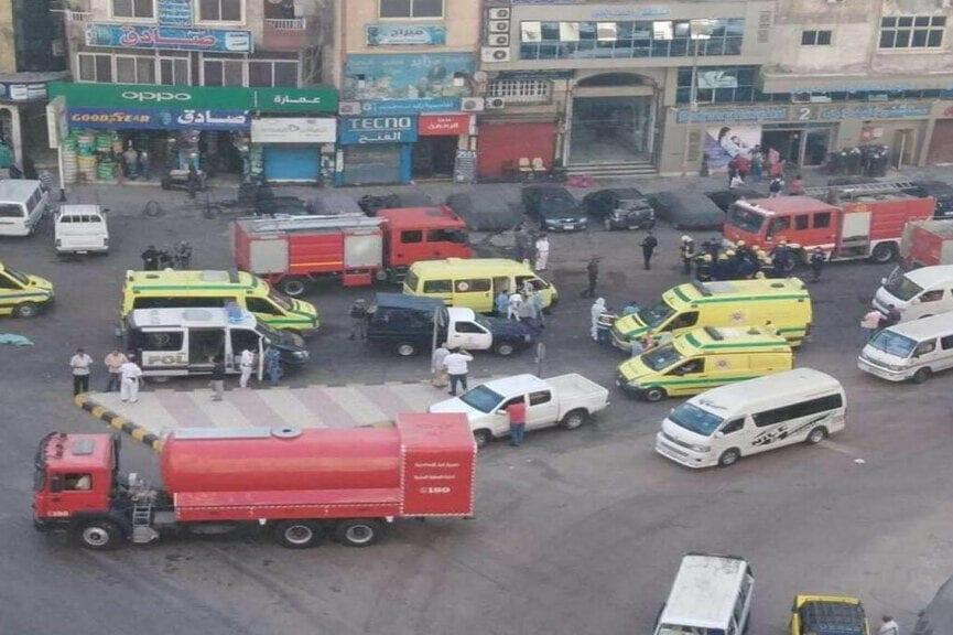 Egypt hospital fire kills 7 coronavirus patients FACEBOOK/BADRAWY HOSPITAL