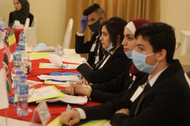 Students take part in the UN session to improve their negotiation skills and understanding of the international body