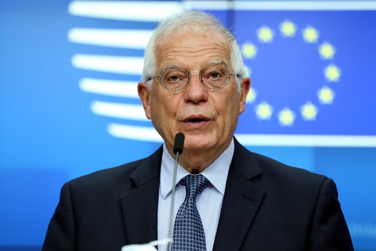European High Representative of the Union for Foreign Affairs, Josep Borrell at a press conference in Brussels, Belgium on 16 June 2020 [Dursun Aydemir/Anadolu Agency]