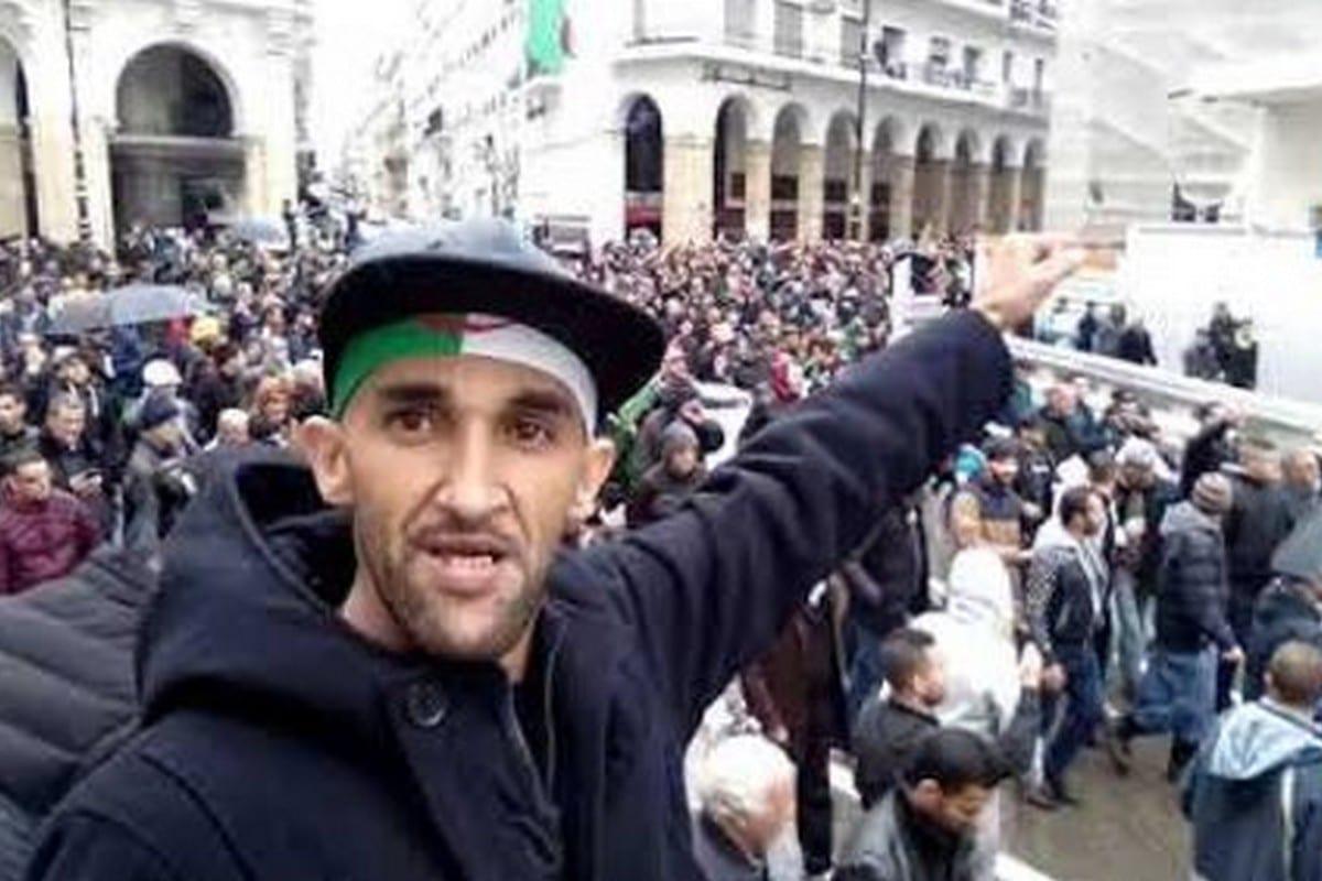 Hirak activist Zoheir Keddam, 14 June 2020 [Twitter]