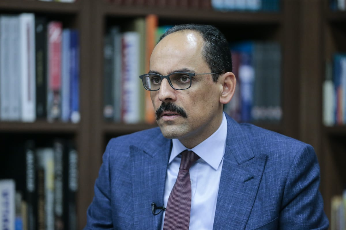 Turkish Presidential Spokesperson Ibrahim Kalin speaks during an interview on developments on the region and Turkey's international relations and foreign policy in Ankara, Turkey on 7 July 2020. [Metin Aktaş - Anadolu Agency]