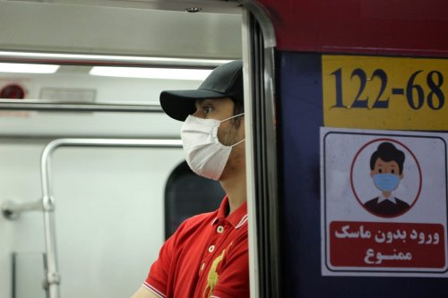 A man wearing mask is seen at a metro after wearing face mask become mandatory in public transports like metro and bus within coronavirus (Covid-19) precautions in Tehran, Iran June 15, 2020 [Fatemeh Bahrami - Anadolu Agency]