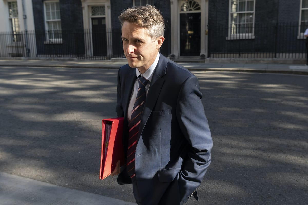 Secretary of State for Education Gavin Williamson in London, UK on 21 July 2020 [Ray Tang/Anadolu Agency]