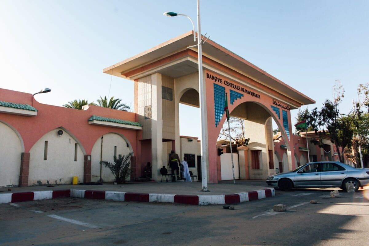 A photo taken on March 31, 2019 in Nouakchott shows the Central Bank of Mauritania. [CARMEN ABD ALI/AFP via Getty Images]