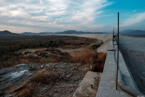 A general view of the Saddle Dam, part of the Grand Ethiopian Renaissance Dam (GERD) in Ethiopia on 26 December 2019 [EDUARDO SOTERAS/AFP/Getty Images]