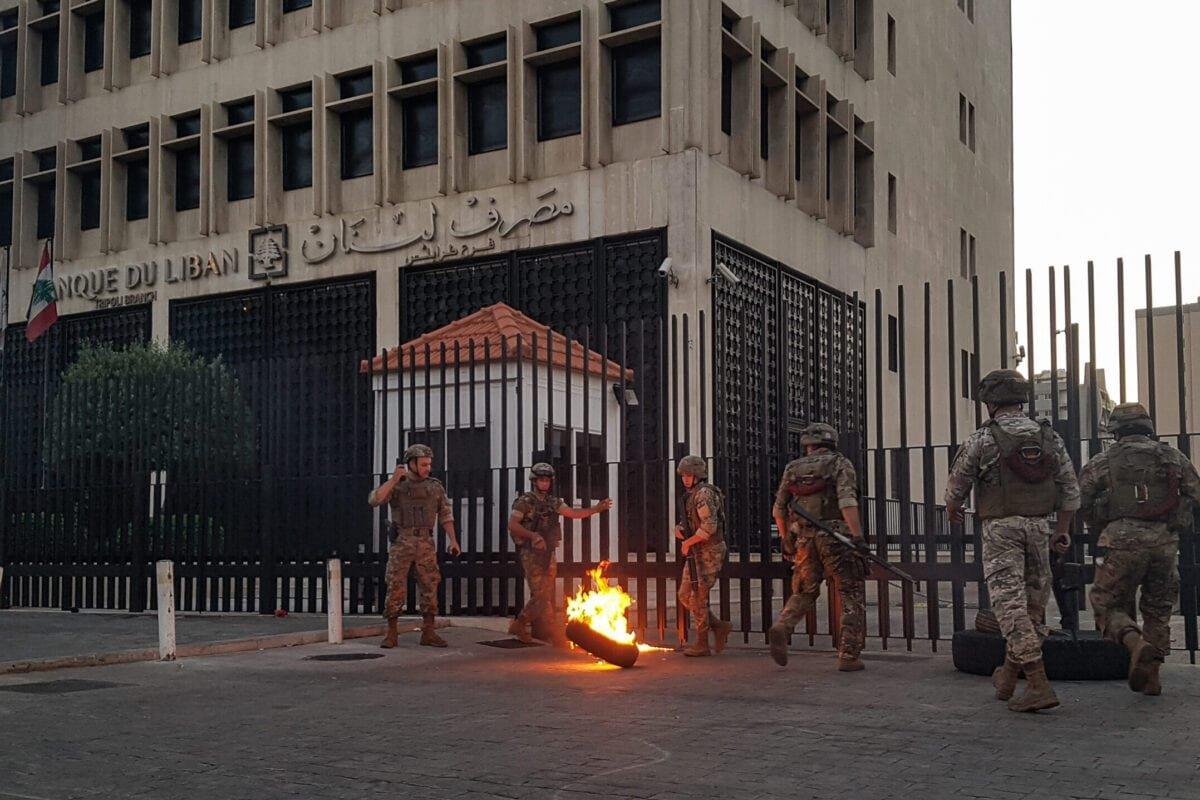 LEBANON-POLITICS-ECONOMY-CURRENCY-DEMO