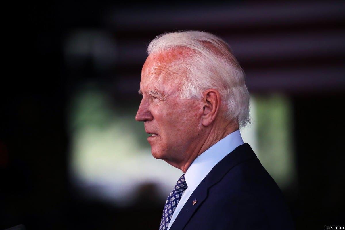 Democratic presidential nominee Joe Biden in Pennsylvania, US on 9 July 2020 [Spencer Platt/Getty Images]