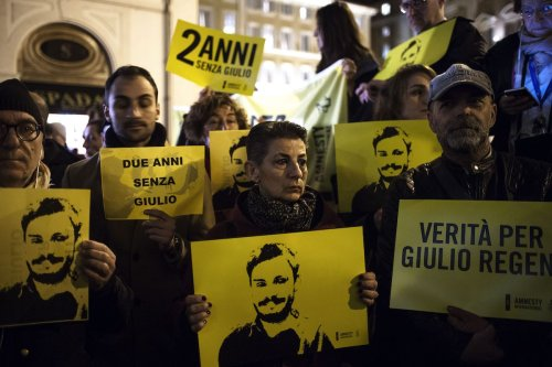 Candlelight procession for Italian student Giulio Regeni who was murdered in Egypt [Riccardo De Luca/Anadolu Agency]