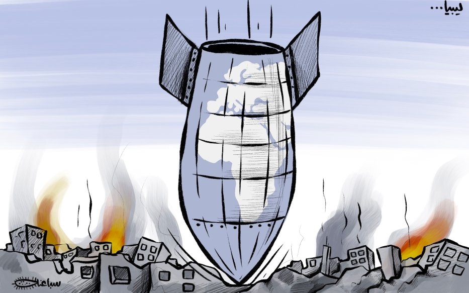 Libya: Never-ending chaos - Cartoon [Sabaaneh/MiddleEastMonitor]