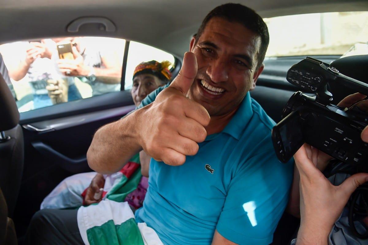 Karim Tabbou in Algiers, Algeria on 2 July 2020 [RYAD KRAMDI/AFP/Getty Images]