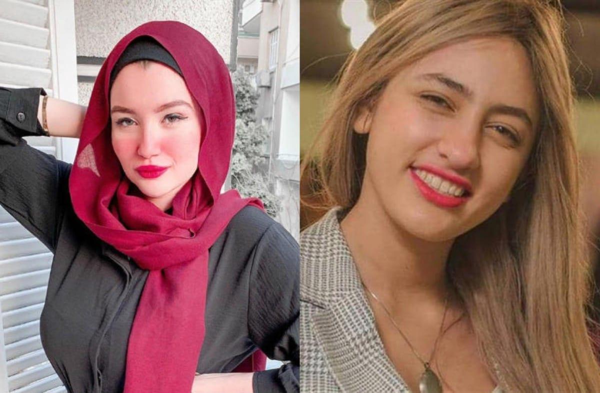 Mawada Al-Adham (R) and Haneen Hossam(L) [Almogaz/Twitter]