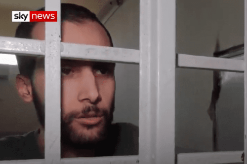 Londoner Ishak Mostefaoui, 27, died in a Kurdish prison after joining Daesh [Screenshot/Sky News]
