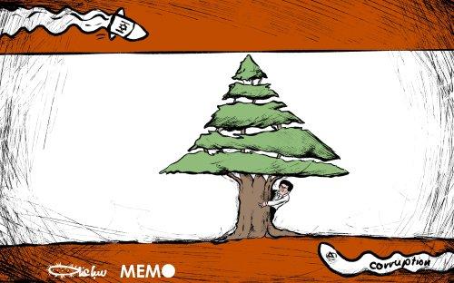 Tensions between Lebanon and Israel at the border - Cartoon [Sabaaneh/MiddleEastMonitor]