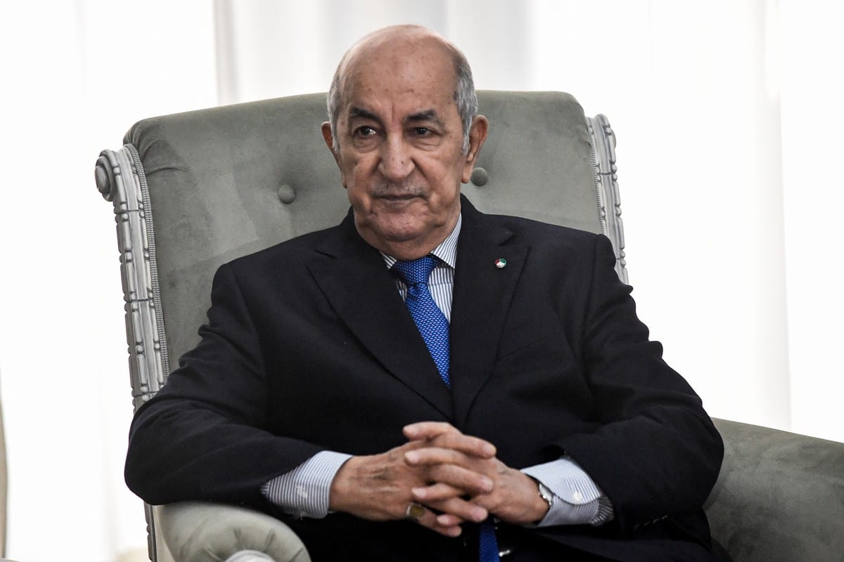 Algerian President Abdelmadjid Tebboune Algiers, Algeria on 21 January 2020 [RYAD KRAMDI/AFP/Getty Images]