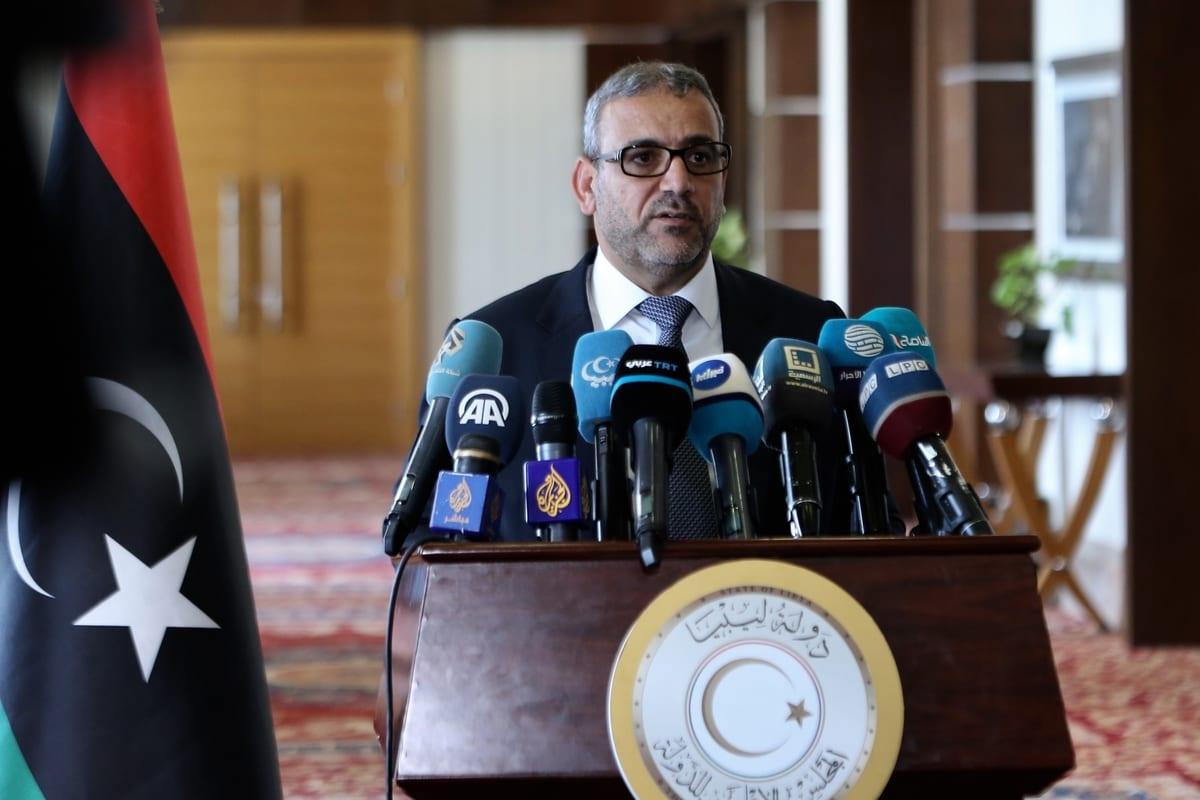 President of the High State Council of Libya, Khalid Al-Mishri in Tripoli, Libya on August 06, 2020 [Hazem Turkia/Anadolu Agency]