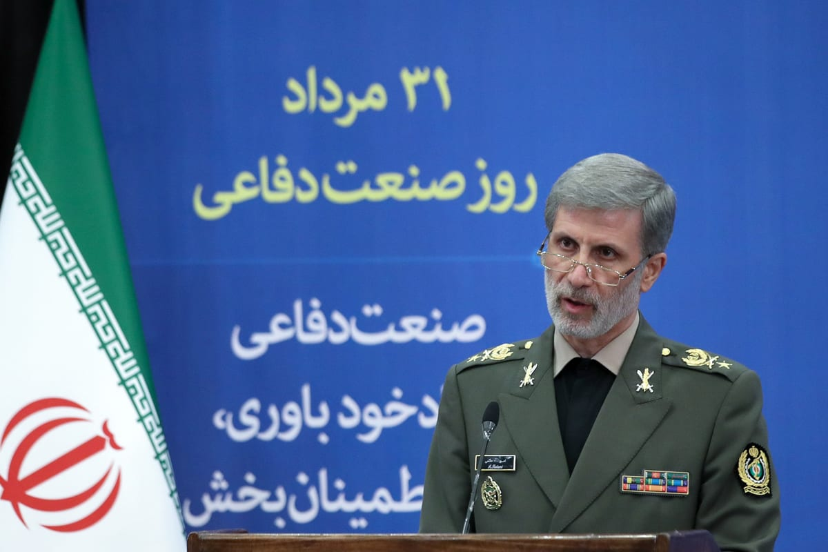 Iran's Defence Minister Amir Hatami seen at a ceremony on the National Defence Industry Day in Tehran, Iran on August 30, 2020 [Iranian Presidency / Handout - Anadolu Agency]