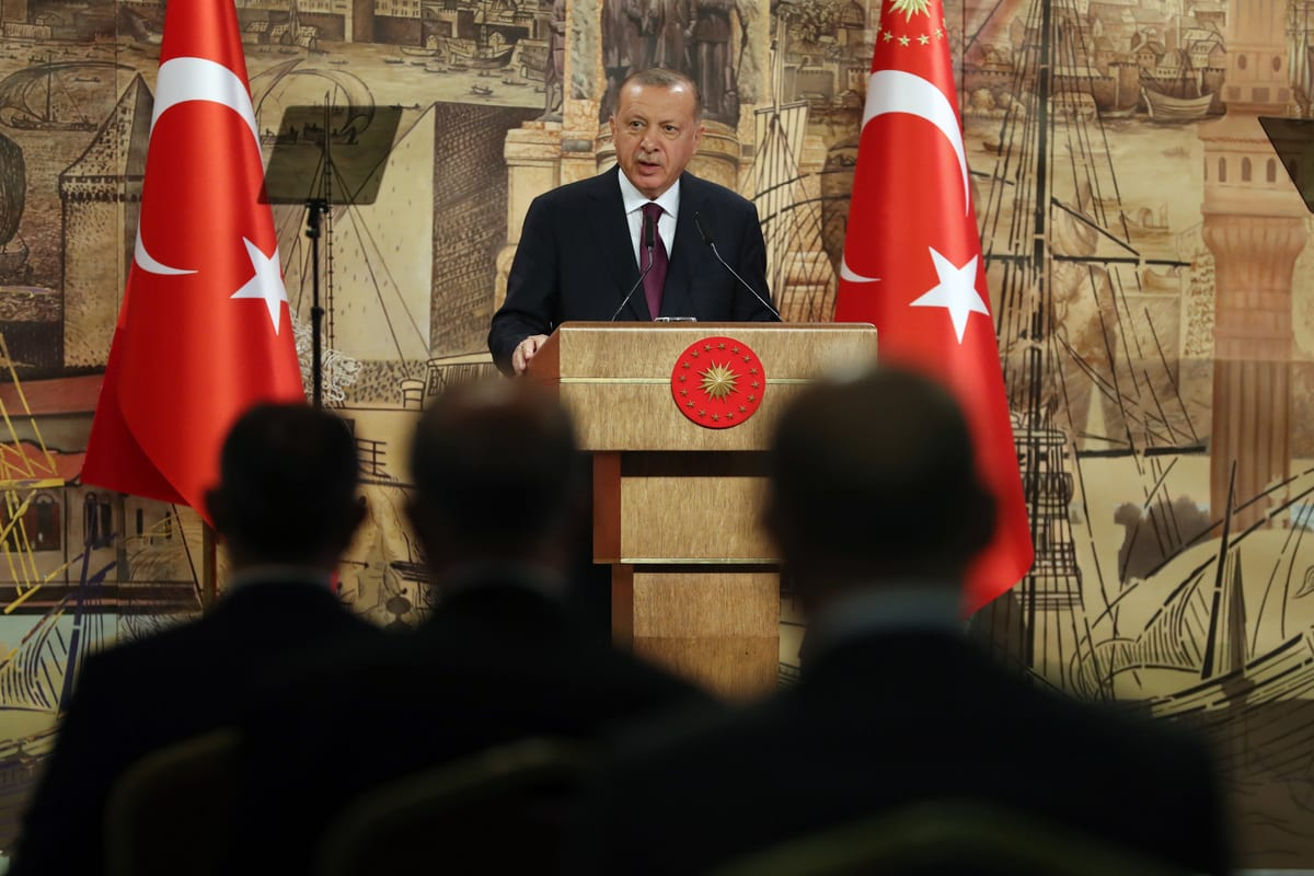 President of Turkey, Recep Tayyip Erdogan in Istanbul, Turkey on 21 August 2020 [Tur Presidency/Murat/Anadolu Agency]