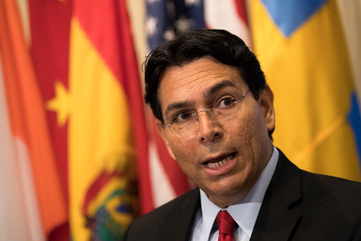 Israeli ambassador to the United Nations Danny Danon in New York, US on 24 July 2018 [Drew Angerer/Getty Images]