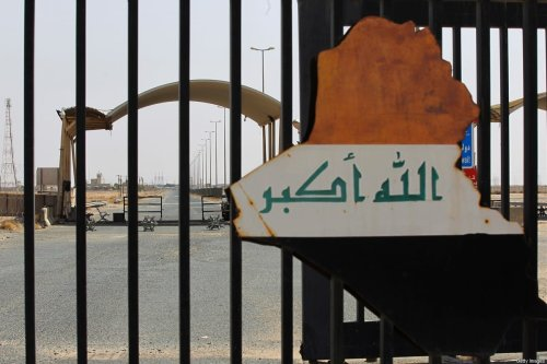 A picture taken during the visit of Iraqi prime minister to the southern city of Basra shows the Safwan border crossing with Kuwait, on 15 July 2020 [AHMAD AL-RUBAYE/POOL/AFP/Getty Images]