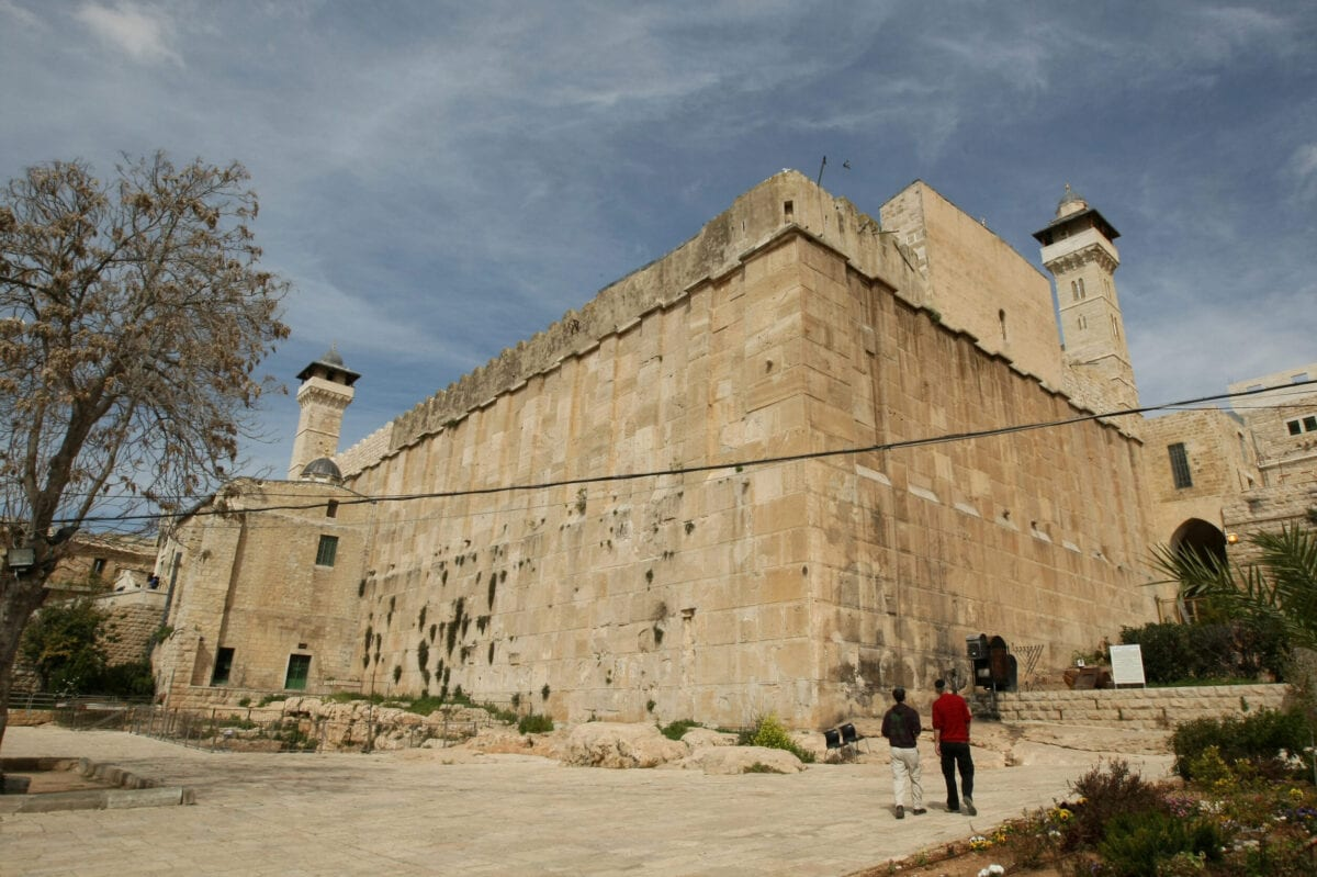 Jewish worshippers visit the the Al-Ibrahimi mosque, known to Jewish worshippers as the Tomb of the Patriarchs, a site holy to both faiths, in the West Bank town of Hebron on February 24, 2010. [JACK GUEZ/AFP via Getty Images]