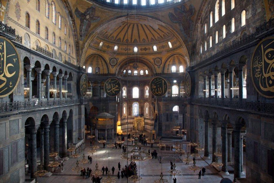 A general view inside the Haghia Sofia (Aya Sofya) on February 23, 2012 in Istanbul, Turkey [Dan Kitwood/Getty Images]
