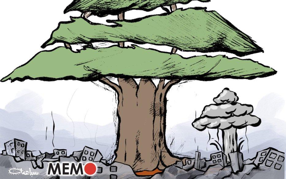 Massive blast rocks Beirut, Lebanon - Cartoon [Sabaaneh/MiddleEastMonitor]