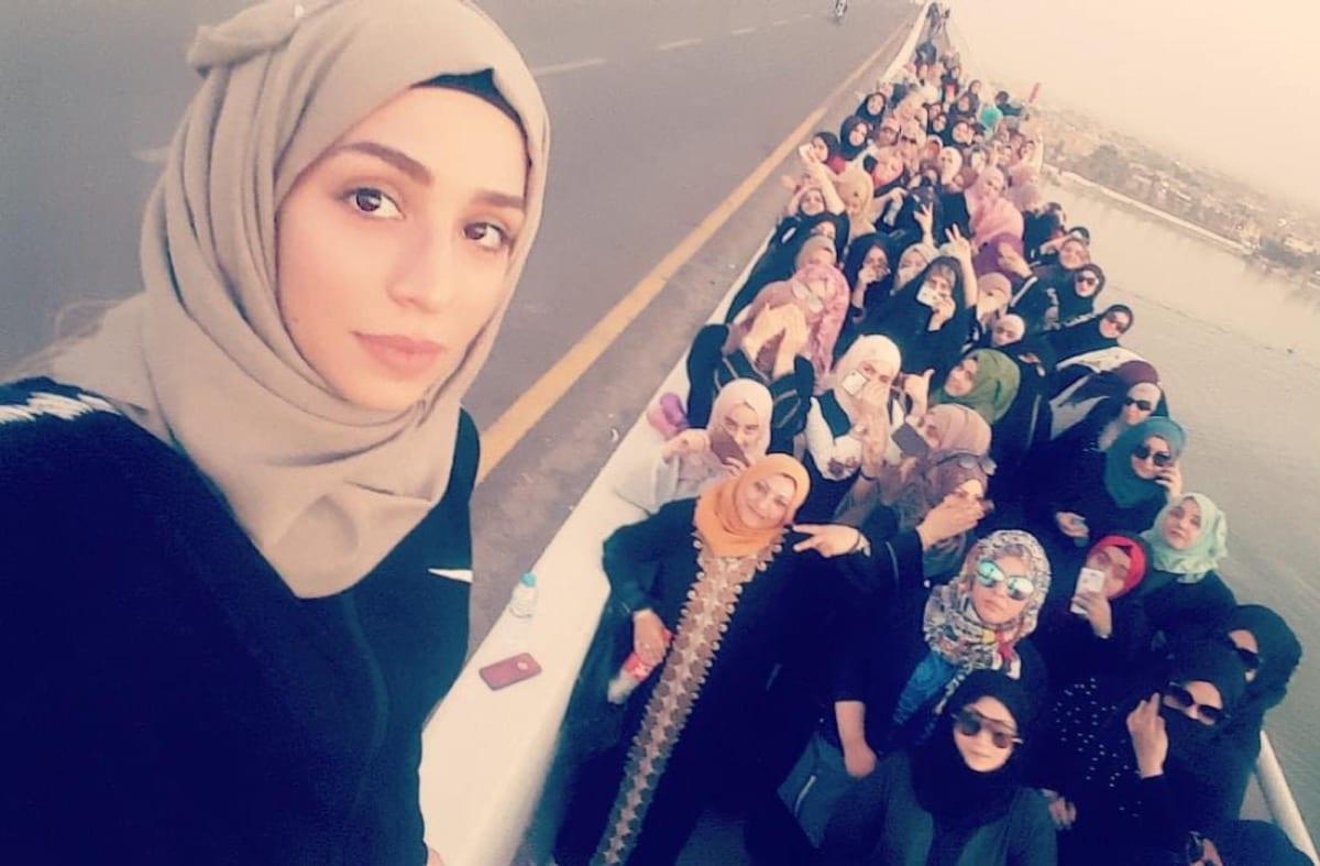 Iraqi female activist Reham Yacoub [Riham Yacoub/Facebook]