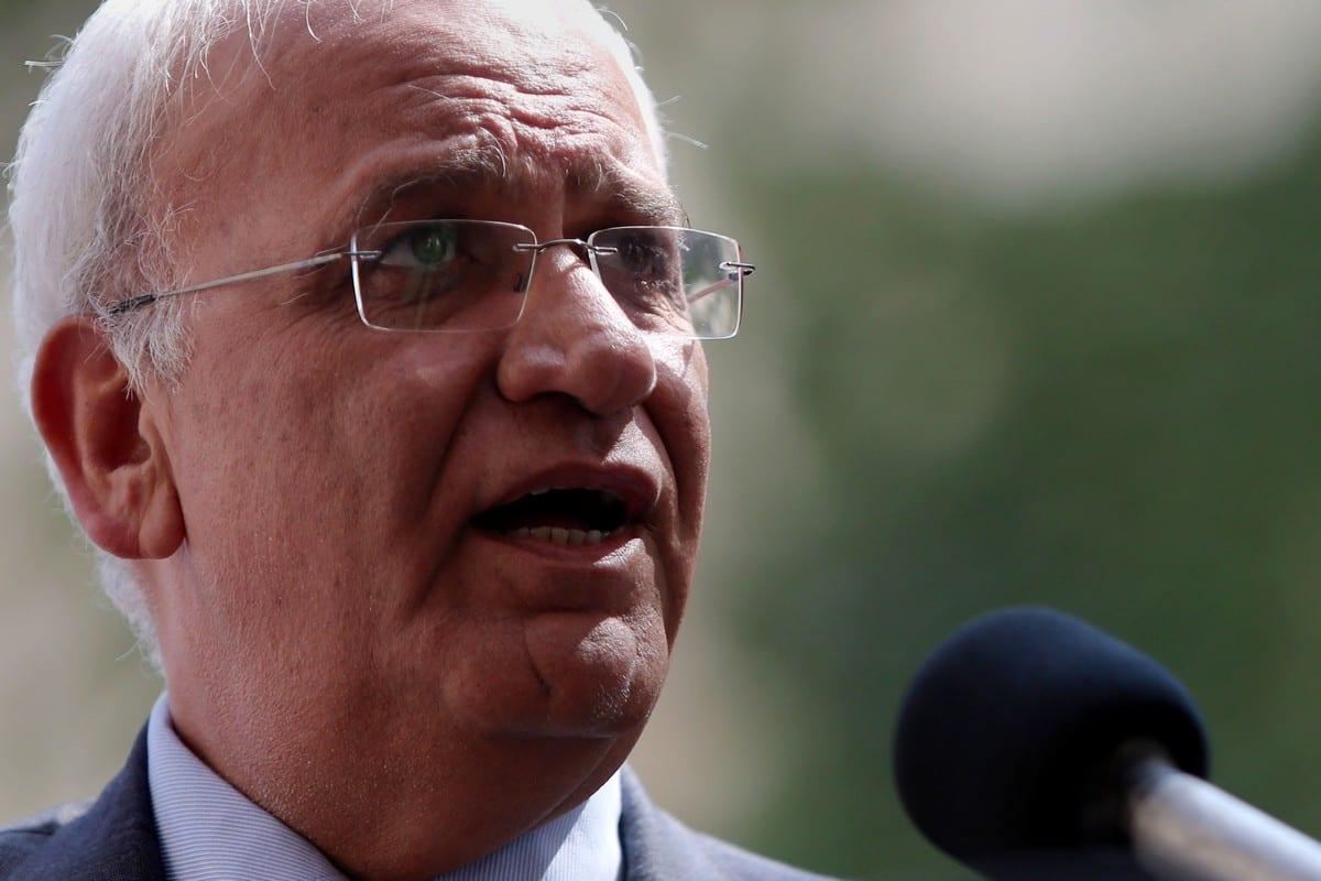 Palestine Liberation Organisation secretary general Saeb Erekat in the West Bank on 6 September 2016 [Shadi Hatem/ApaImmages]
