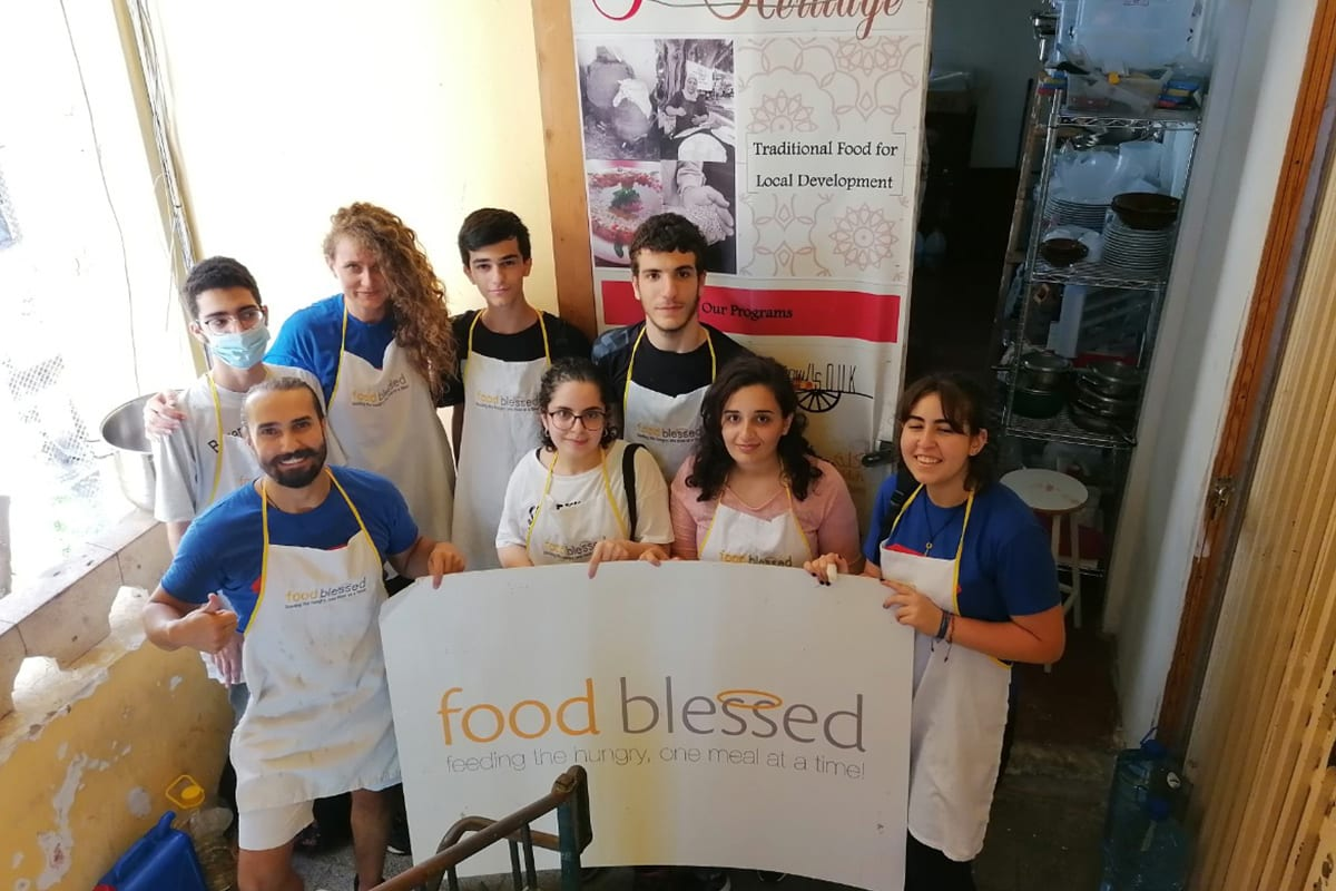 FoodBlessed, a locally run hunger relief initiative in Lebanon, 19 August 2020
