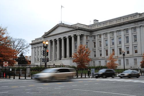 US Treasury Building in Washington, DC on November 15, 2011 [KAREN BLEIER/AFP via Getty Images]