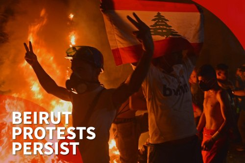 Thumbnail - Beirut protests persist after gov't resignation