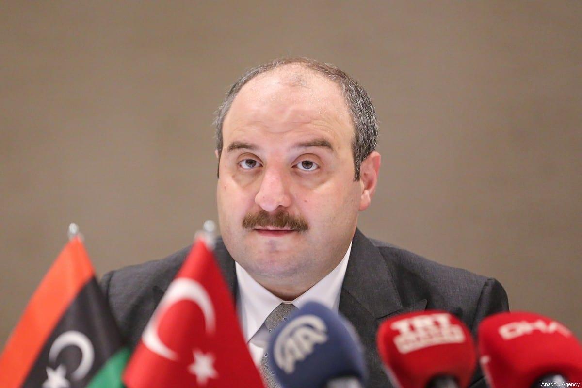Turkish Industry and Technology Minister, Mustafa Varank in Istanbul, Turkey on September 06, 2020. [Esra Bilgin - Anadolu Agency]