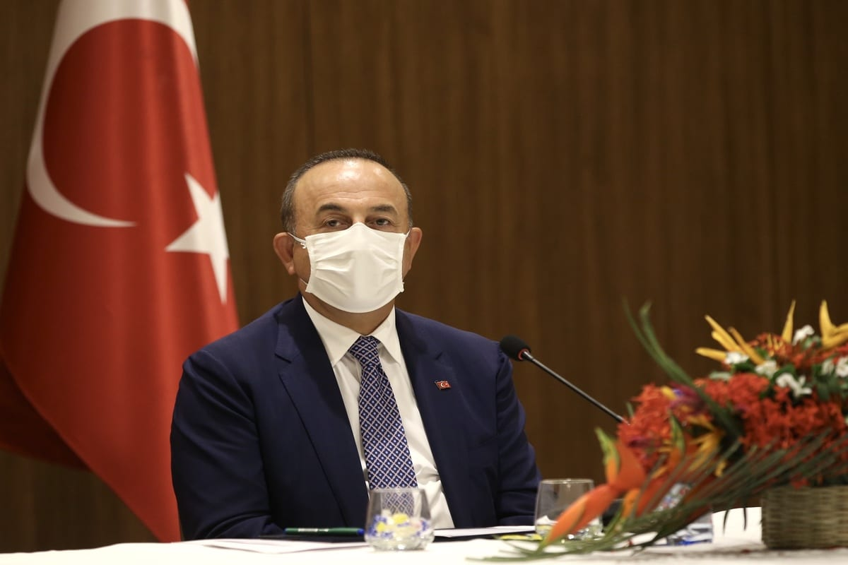 Minister Foreign Affairs of Turkey, Mevlut Cavusoglu in Mali on 9 September 2020 [Fatih Aktaş/Anadolu Agency]