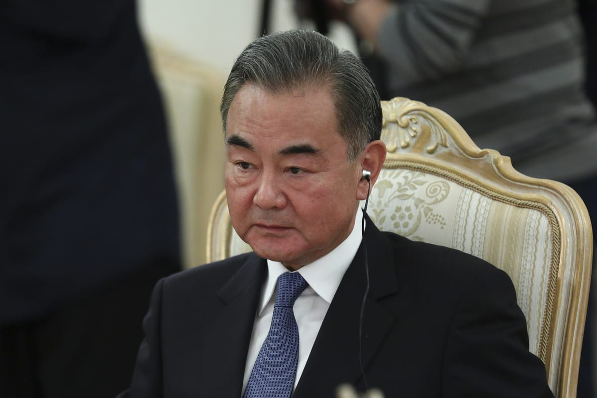 Chinese Foreign Minister Wang Yi in Moscow, Russia on September 11, 2020. [RUS Foreign Ministry - Anadolu Agency]