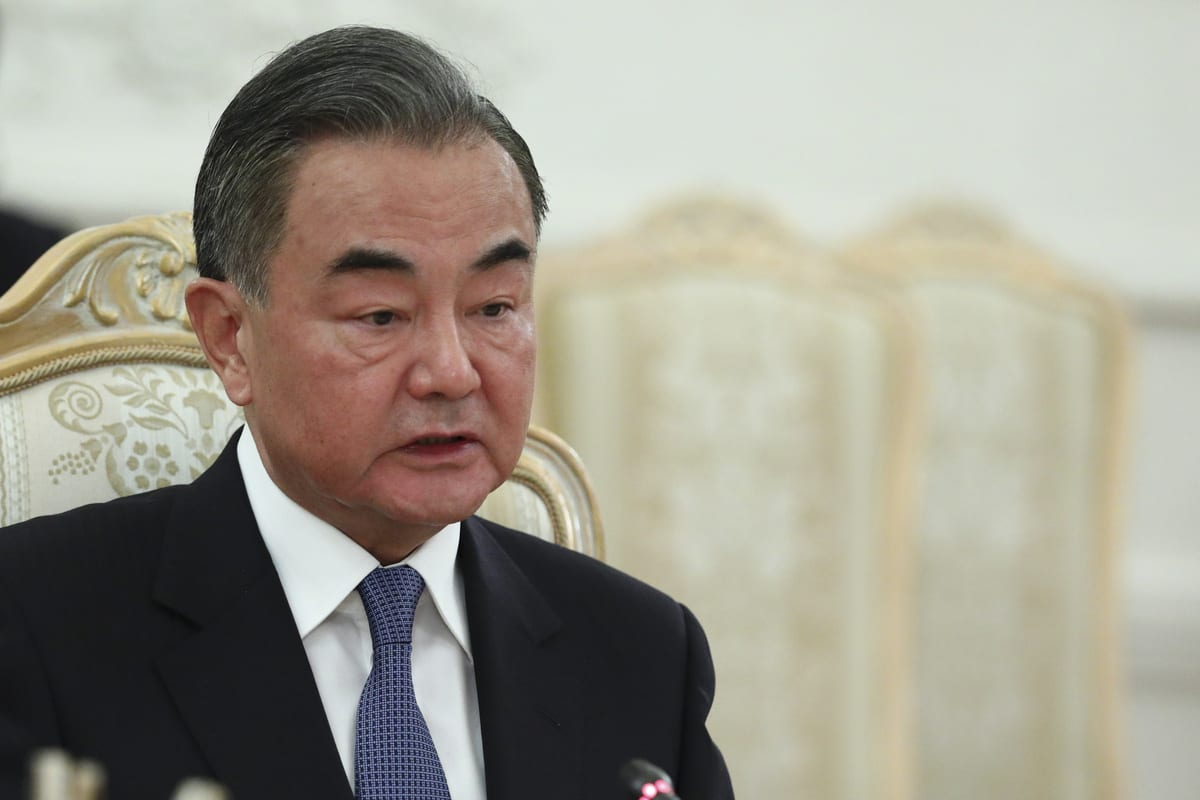 Chinese Foreign Minister Wang Yi meets Russian Foreign Minister Sergey Lavrov (not seen) in Moscow, Russia on September 11, 2020 [RUS Foreign Ministry - Anadolu Agency]