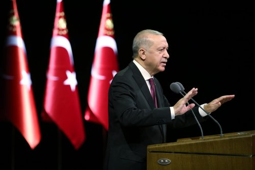 Turkish President Recep Tayyip Erdogan in Ankara, Turkey on September 17, 2020 [Mustafa Kamacı/Anadolu Agency]