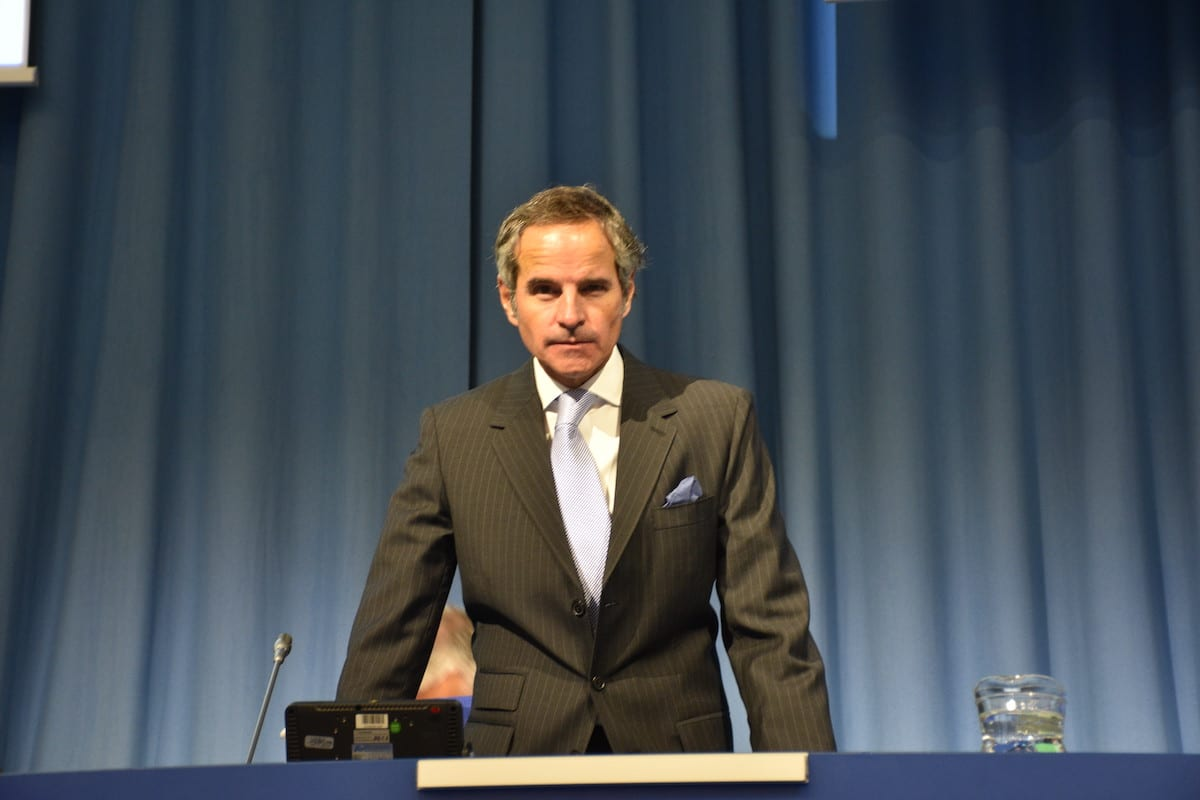 Director General of the International Atomic Energy Agency (IAEA) Rafael Mariano Grossi in Vienna, Austria on 21 September 2020 [Aşkın Kıyağan/Anadolu Agency]
