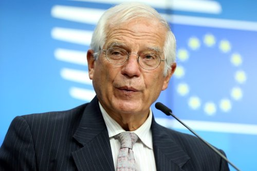 European High Representative of the European Union for Foreign Affairs and Security Policy, Josep Borrell in Brussels, Belgium, on 21 September 2020 [Dursun Aydemir/Anadolu Agency]