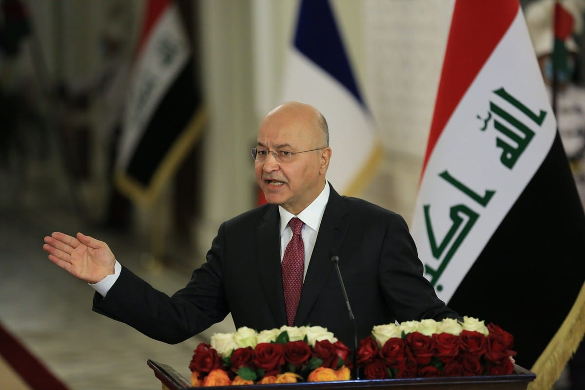 Iraqi President Barham Salih in Baghdad, Iraq on 2 September 2020 [Murtadha Al-Sudani/Anadolu Agency]