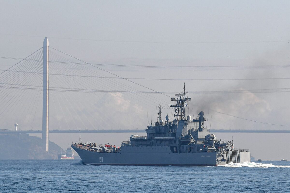 Russian ship on September 26, 2019 [OZAN KOSE/AFP via Getty Images]