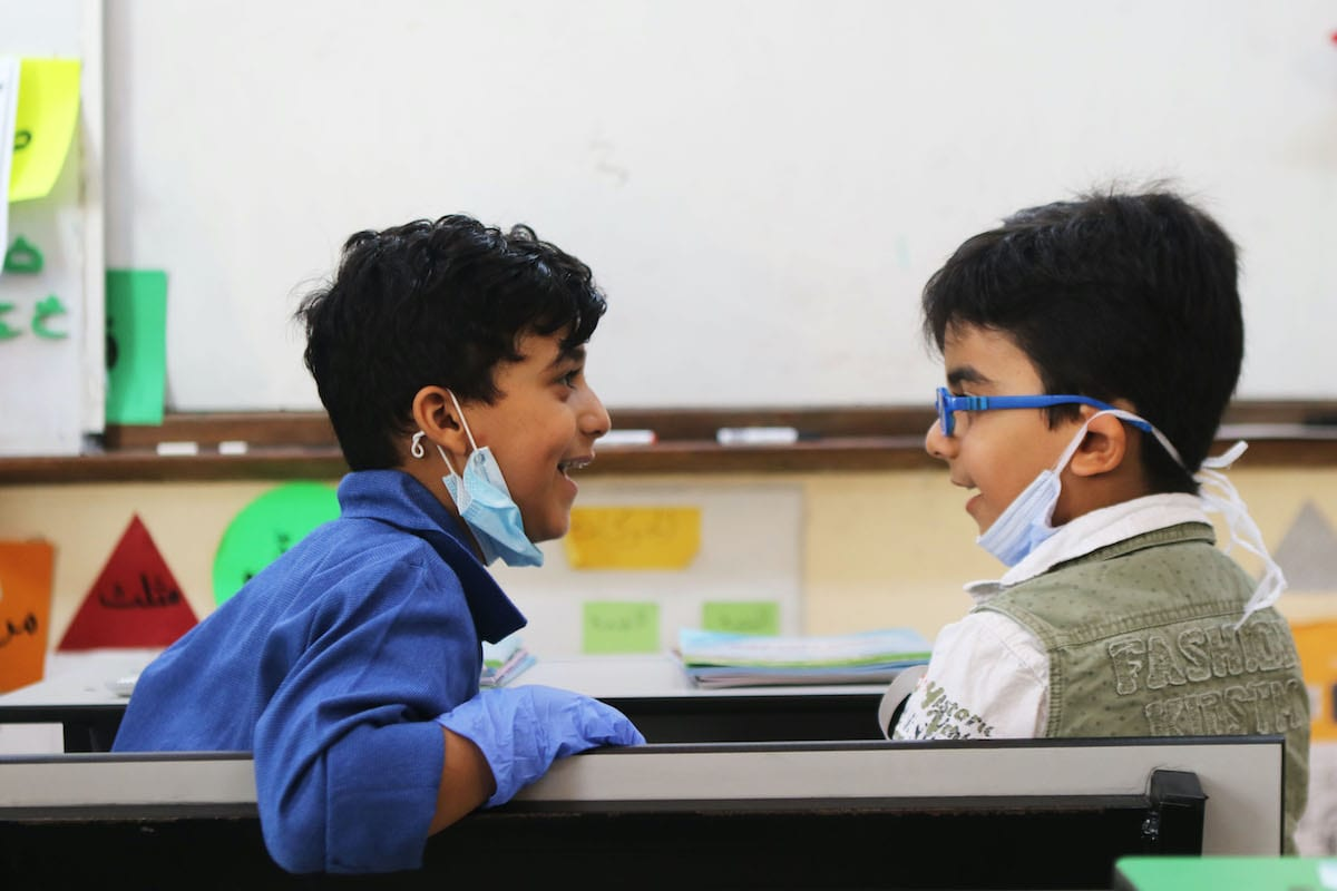 More than two million Jordanian students joined the academic school year 2020/2021, Tuesday, after five months staying at their homes, on September 01, 2020 in Amman, Jordan [Jordan Pix/Getty Images]