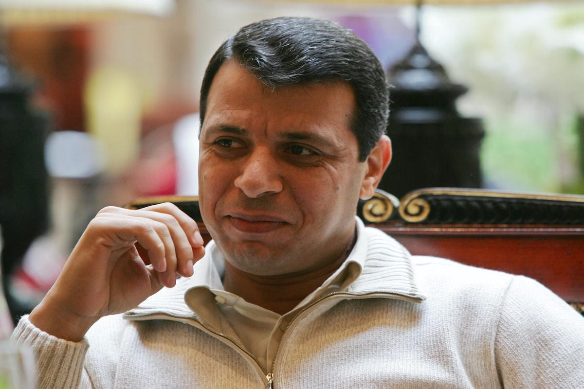 Former Palestinian security minister Mohammed Dahlan [THOMAS COEX/AFP via Getty Images]