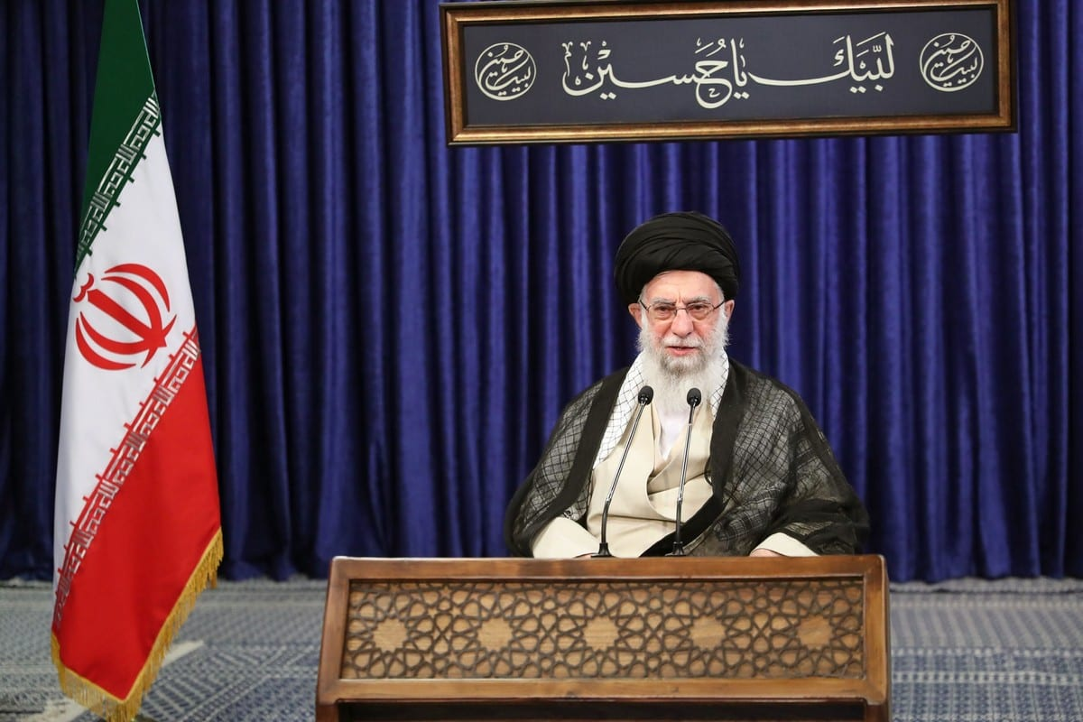 Iranian Supreme Leader Ayatollah Ali Khamenei in Tehran, Iran on 1 September 2020 [Iranian Leader Press Off/Anadolu Agency]