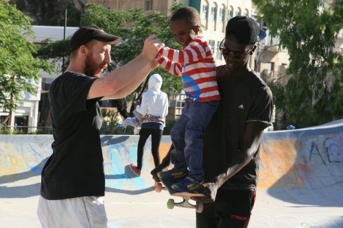 A child can be seen learning how to skateboard, 11 September 2020 [7Hills]