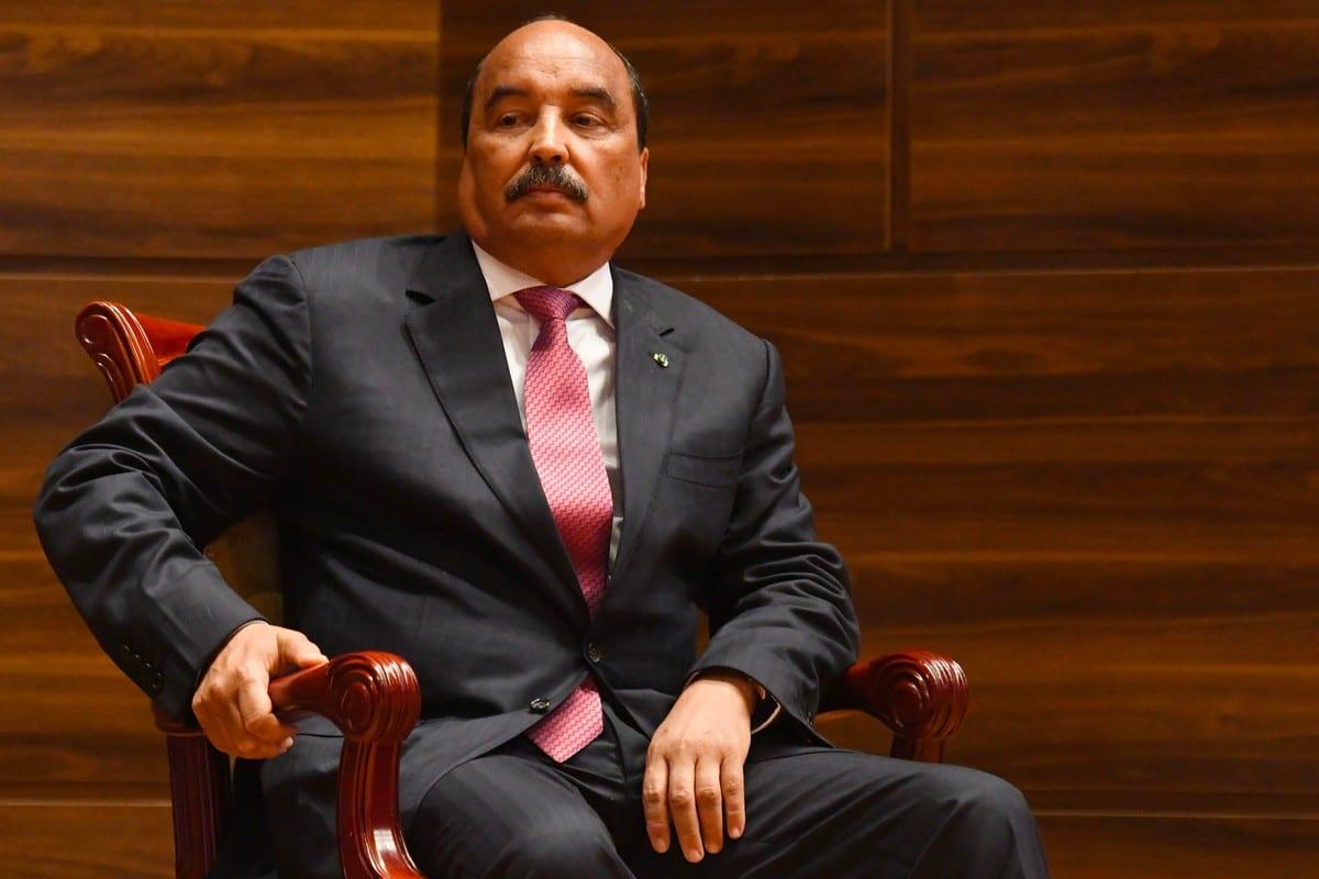 Former Mauritanian President Ould Abdel Aziz in Nouakchott on 1 August 2019 [SEYLLOU/afp/AFP/Getty Images]