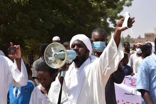 Protest against normalisation deal with Israel in Khartoum, Sudan on 25 September 2020 [Abbas M. Idris/Anadolu Agency]